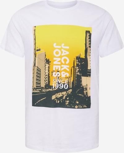 JACK & JONES Shirt 'JACKSON' en gelb / taupe / schwarz / weiß, Vue avec produit