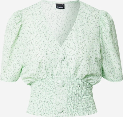 Gina Tricot Blus 'Isabella' i pastellgrön / mörkgrön / vit, Produktvy