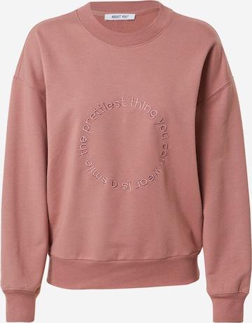 ABOUT YOU Sweatshirt 'Nancy' in Rot
