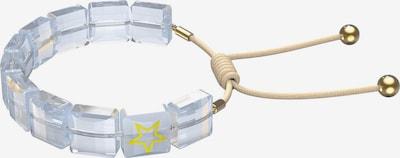 Brățară 'Letra' Swarovski pe bej / galben / auriu / argintiu / alb, Vizualizare produs