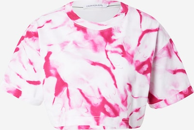Calvin Klein Jeans T-Shirt 'MARBLE' in pink / weiß, Produktansicht