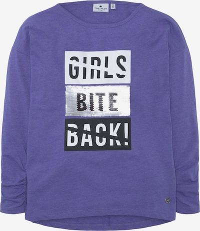 TOM TAILOR Shirt in blau / schwarz / silber / weiß, Produktansicht
