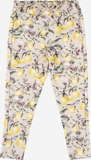 NAME IT Pantalon 'Dansy' en beige / citron vert / vert foncé / pitaya / blanc, Vue avec produit