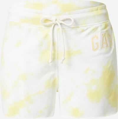 GAP Pantalón en amarillo / blanco, Vista del producto