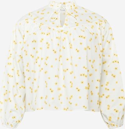 GLAMOROUS CURVE Bluse in gelb / schwarz / weiß, Produktansicht