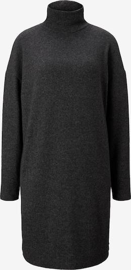 TOM TAILOR DENIM Strickkleid in schwarz, Produktansicht