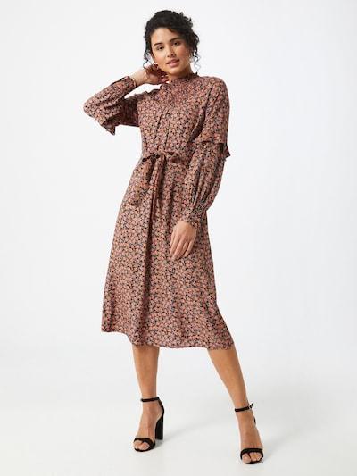 VERO MODA Kleid 'MILDA' in blau / lachs / pink / schwarz, Modelansicht