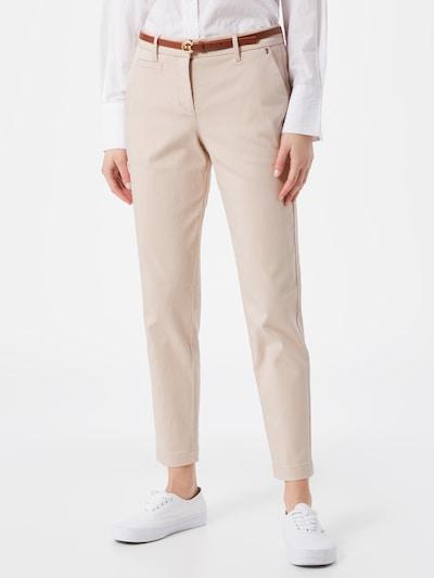 Pantaloni eleganți COMMA pe crem, Vizualizare model