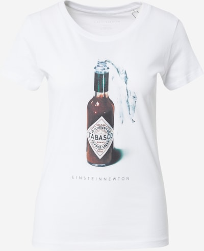 Tricou 'Sauce' EINSTEIN & NEWTON pe verde închis / roşu închis / alb, Vizualizare produs