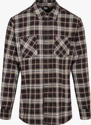 Urban Classics Big & Tall Hemd in hellbeige / weinrot / schwarz / weiß, Produktansicht