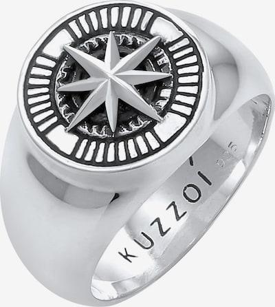 KUZZOI Ring 'Siegelring, Kompass' in de kleur Zilver, Productweergave