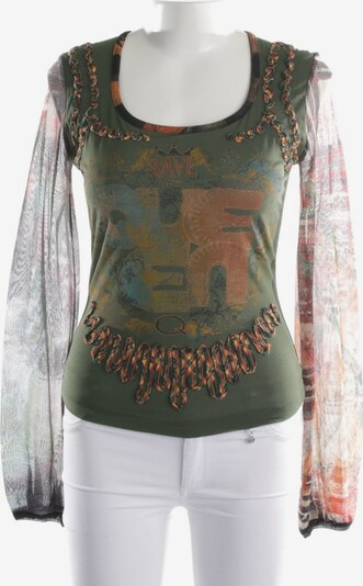 Save the Queen Shirt langarm in S in dunkelgrün, Produktansicht