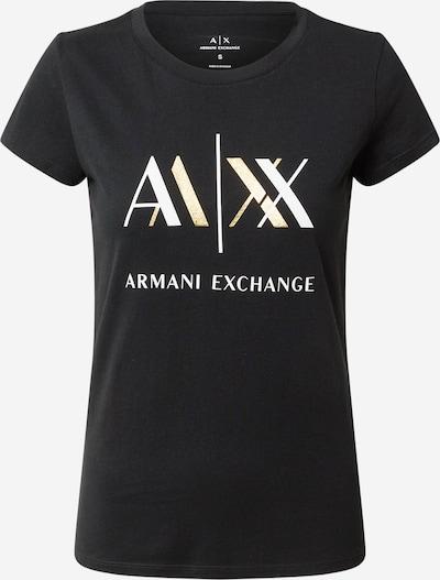 ARMANI EXCHANGE T-Krekls '6Hytah' Zelts / melns, Preces skats