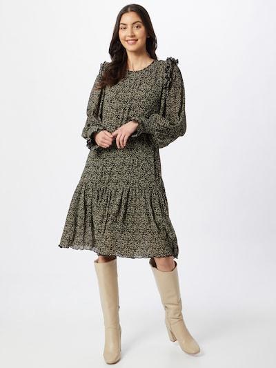 Sofie Schnoor Kleid in kitt / goldgelb / smaragd / schwarz, Modelansicht