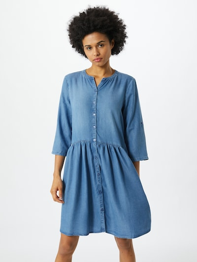 TOM TAILOR DENIM Kleid in blau, Modelansicht