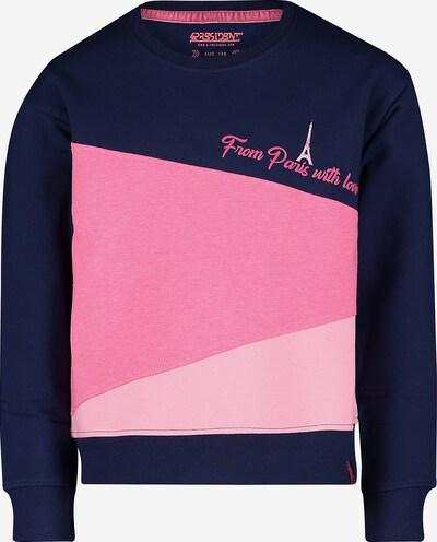 4PRESIDENT Sweatshirt in dunkelblau / hellpink / dunkelpink, Produktansicht