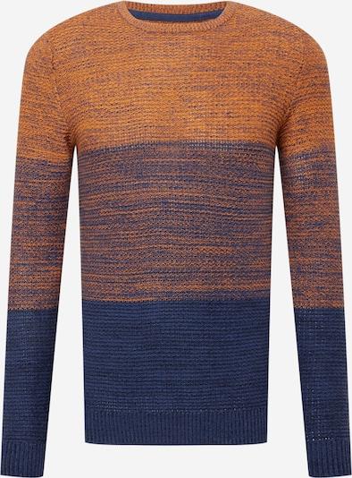BLEND Tröja i blå denim / blåmelerad / orange, Produktvy