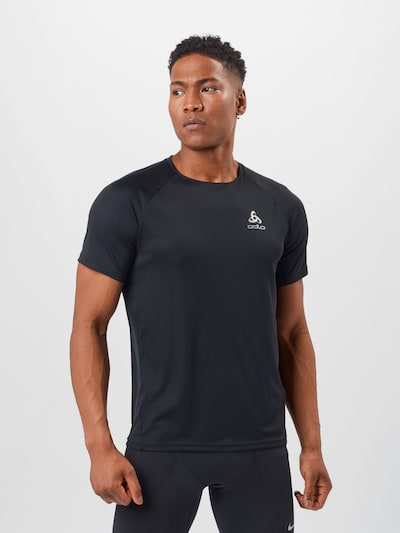 ODLO Functioneel shirt in de kleur Zwart / Wit: Vooraanzicht