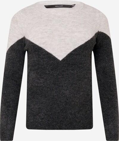 Vero Moda Curve Pull-over 'Plaza' en gris / gris foncé, Vue avec produit