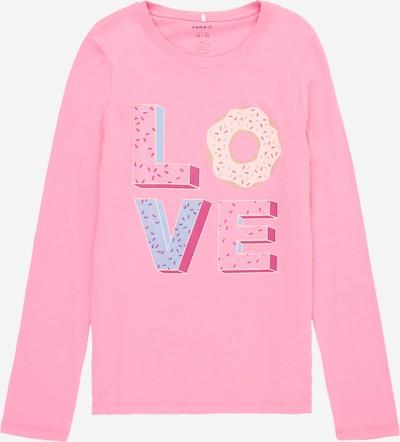 NAME IT Majica 'DIRGA' u bež / sivkasto plava / svijetloroza / tamno roza, Pregled proizvoda