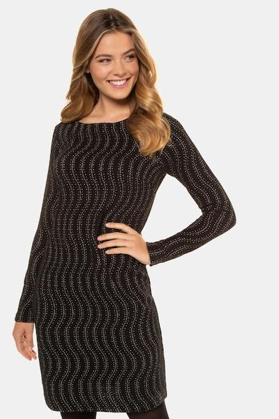 Gina Laura Kleid in dunkelbraun / schwarz / weiß, Modelansicht