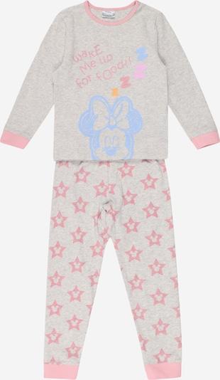 Cotton On Pidžama 'FLORENCE' debeszils / raibi pelēks / gaiši oranžs / rožkrāsas, Preces skats