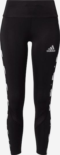 ADIDAS PERFORMANCE Sporthose 'Own The Run' in schwarz / silber / weiß, Produktansicht