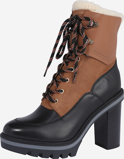 TOMMY HILFIGER Lace-Up Ankle Boots in Caramel / Black, Item view