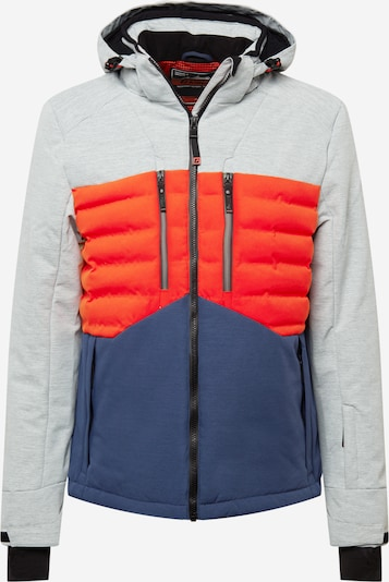 KILLTEC Athletic Jacket in Blue / mottled grey / Red / Black, Item view