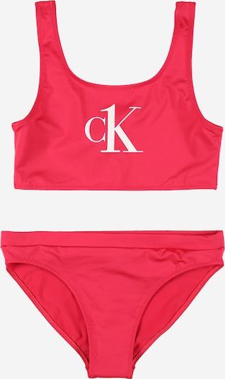 Calvin Klein Swimwear Бански тип бикини в розово / бяло, Преглед на продукта