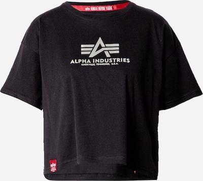 ALPHA INDUSTRIES Тениска в сребърно сиво / черно, Преглед на продукта