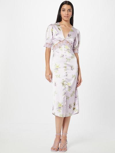 Hope & Ivy Kleid 'THE MABEL' in gelb / hellgrün / lila, Modelansicht