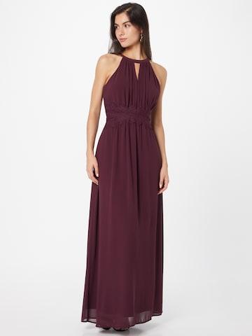 VILA Evening Dress 'MILINA' in Red