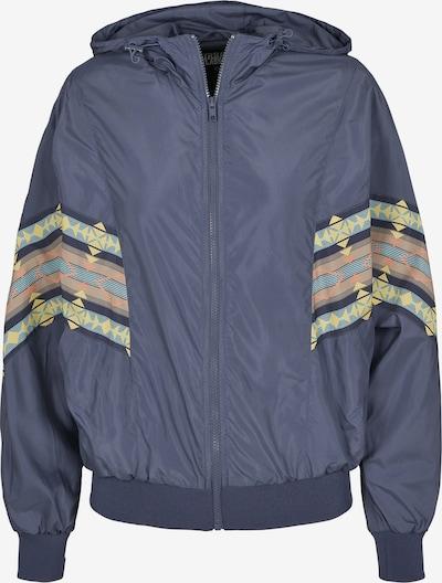 Urban Classics Between-season jacket in Dusty blue / Light blue / Yellow / Light orange, Item view