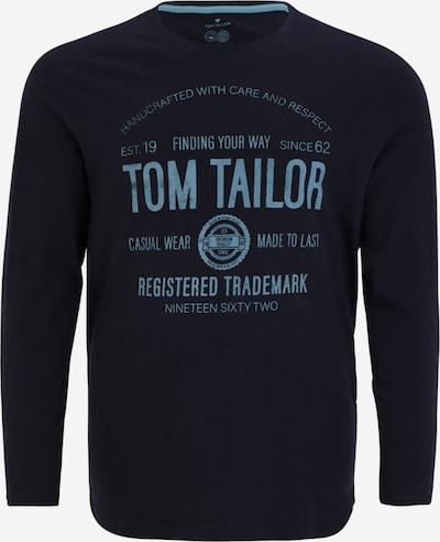 TOM TAILOR Men + Sweatshirt in taubenblau / dunkelblau, Produktansicht
