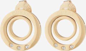 GUESS Σκουλαρίκια 'Stud Circles' σε χρυσό