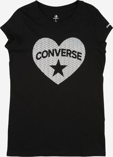 CONVERSE Shirt in schwarz / weiß, Produktansicht