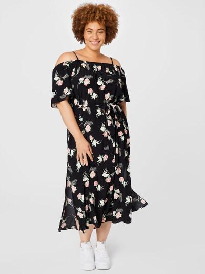 ABOUT YOU Curvy Kleid 'Lana' in creme / hellgrün / rosa / schwarz, Modelansicht