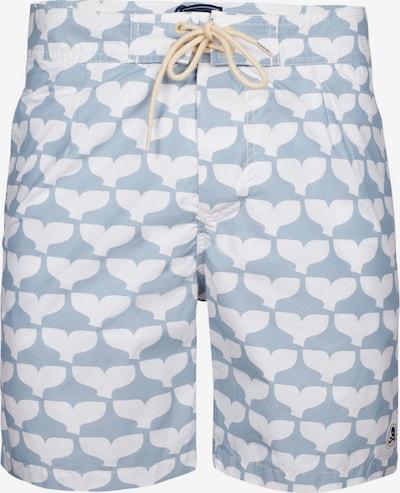 Scalpers Shorts de bain 'Whale Tail' en bleu pastel / blanc, Vue avec produit