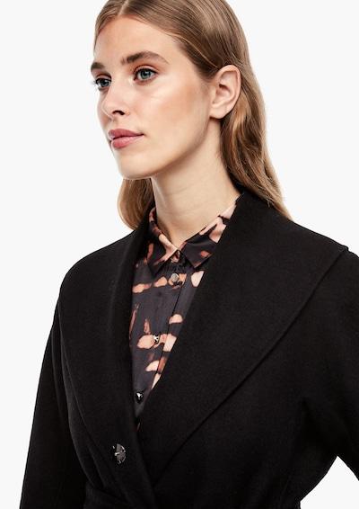 s.Oliver BLACK LABEL Tussenmantel in de kleur Zwart, Modelweergave