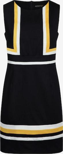 APART Kleid mit graphischem Muster in gelb / schwarz / weiß, Produktansicht
