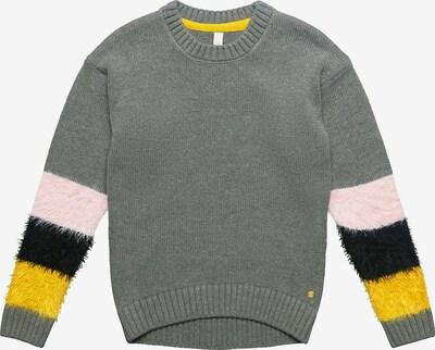 ESPRIT Pullover in gelb / grau / hellpink / schwarz, Produktansicht