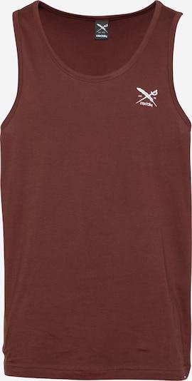 Iriedaily T-Shirt 'Chestflag' en bordeaux, Vue avec produit