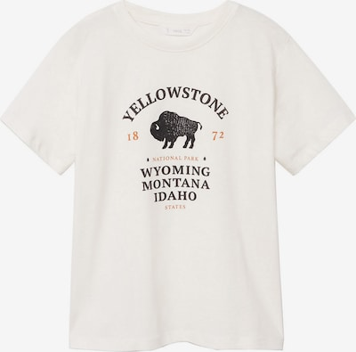 MANGO KIDS Shirt 'YELLOW' in de kleur Goud / Zwart / Wit, Productweergave