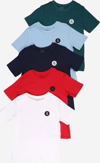 River Island Тениска в синьо / смарагдово зелено / червено / бяло, Преглед на продукта