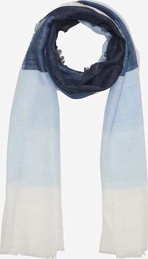 s.Oliver Sjaal in de kleur Nachtblauw / Lichtblauw / Wit, Productweergave