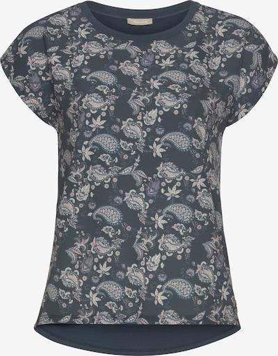 TAMARIS Shirt in marine / taubenblau / puder / weiß, Produktansicht