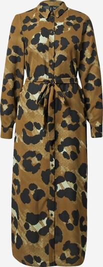VERO MODA Kleid 'Greeta' in braun / hellgelb / schwarz, Produktansicht