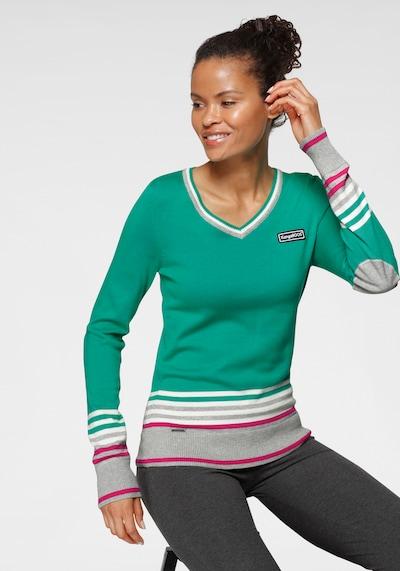 KangaROOS Pullover in grün / lila / weiß, Modelansicht