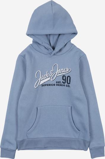 Jack & Jones Junior Sweatshirt in rauchblau / blaumeliert / weißmeliert, Produktansicht